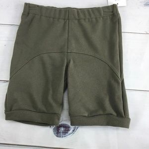 Two-Panel Green Shorts, Size 6
